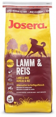 JOSERA SUPER PREMIUM LAMB & RICE 20/11, 15kg